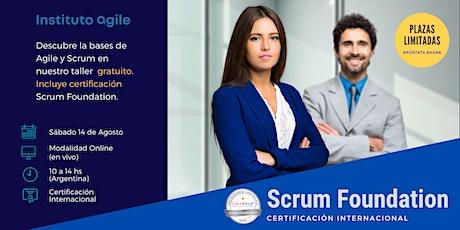 Taller de certificación Scrum Foundations entradas