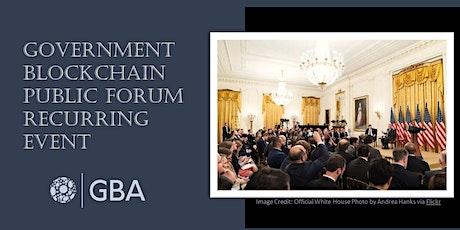 Government Blockchain Public Forum tickets