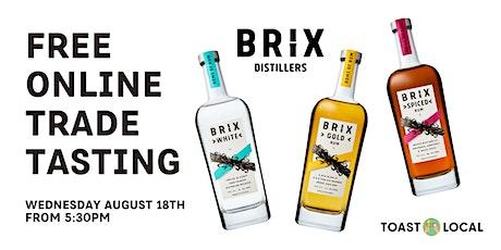 Brix Distillers | Online Trade Tasting tickets