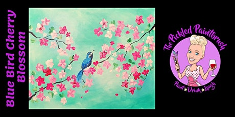 Painting Class - Cherry Blossom Blue Bird - August 26, 2021 tickets