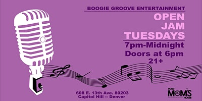 Open Jam Tuesdays  8/24