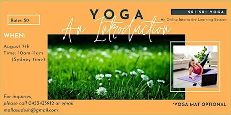Yoga  - An introductory session of Sri Sri Yoga tickets