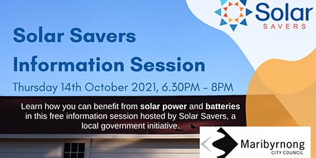Solar Savers - Solar and Battery Information Session tickets