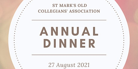 St Mark's Old Collegians Association Inc AGM & Annual Dinner tickets