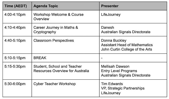 Cyber Teacher - 2021 Virtual Workshop Series (10th November) image