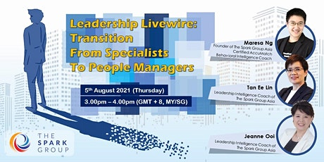 Leadership Livewire: Transition from Specialists to People Managers tickets