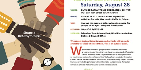 Community Visioning Meeting for San Antonio Park tickets