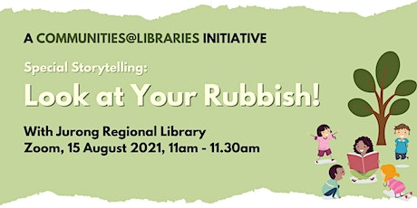 Special Storytelling – Look at Your Rubbish! @ Jurong Regional Library tickets