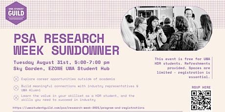PSA Research Week: Networking Sundowner tickets