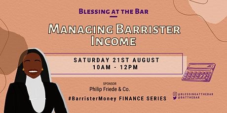 BATB FINANCE SERIES: Managing Barrister Income tickets