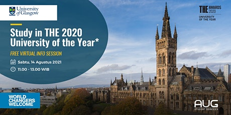 Study in THE 2020 University of the Year - University of Glasgow tickets