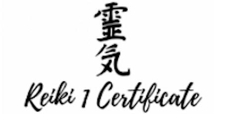 Usui Reiki 1 Certificate tickets