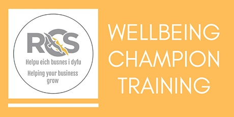 RCS Wellbeing Champion Training tickets