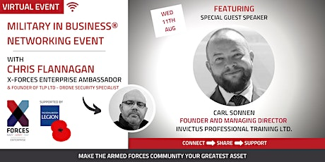 Military in Business® Virtual Networking Event tickets