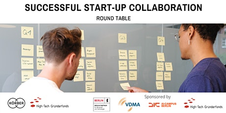 """Round Table: """"Successful Start-up Collaboration""""  by HTGF tickets"""