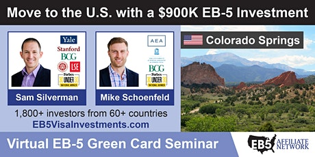 U.S. Green Card Virtual Seminar – Colorado Springs, USA tickets