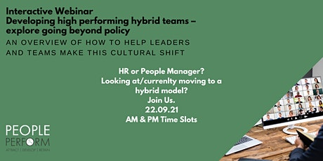 Developing high performing hybrid teams  (Ideal for people managers) tickets