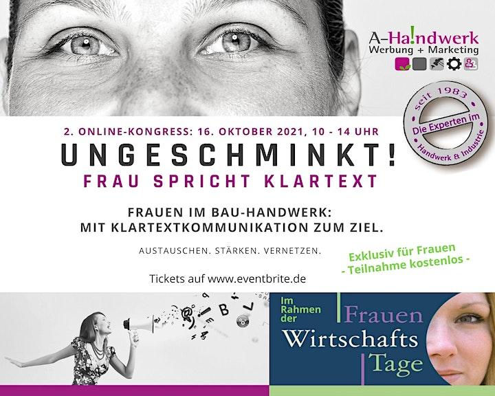 Ungeschminkt! FRAU SPRICHT KLARTEXT. Frauen im Bau-Handwerk.: Bild
