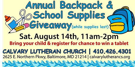 Annual Backpack & School Supply Giveaway tickets