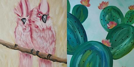 "ArtTime ""Kaktus trifft Kakadus"" 2 Motive 1 ArtTime Tickets"