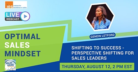OPTIMAL SALES MINDSET: Perspective Shifting for Sales Leaders tickets
