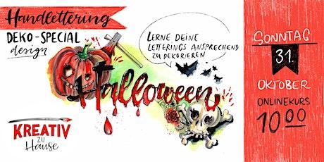 Handlettering Halloween Special: Lerne deine Werke zu dekorieren - Online Tickets