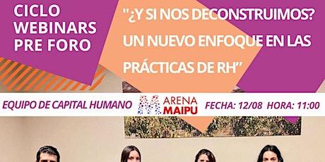Free Webinar: Nuevo enfoque en las prácticas de RH boletos