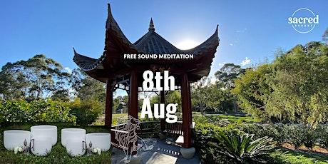 Sound Meditation - Crystal Singing Bowls in Nanning Gardens tickets