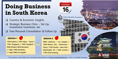 Doing Business in South Korea tickets
