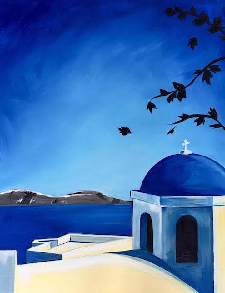 Paint and Sip - Santorini image