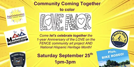 AMOR on the FENCE: Community Coming Together to color LOVE & AMOR tickets