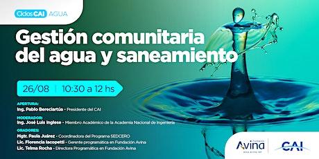 #CiclosCAIAGUA - Gestión comunitaria del agua y saneamiento entradas