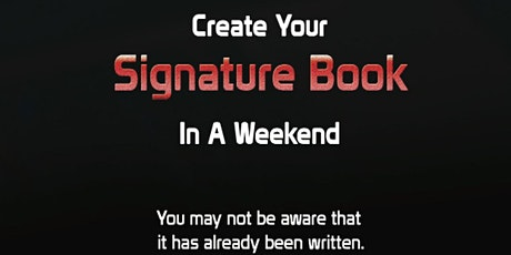 Create Your Signature Book in a Weekend tickets