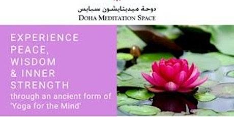 Raja yoga meditation  course tickets