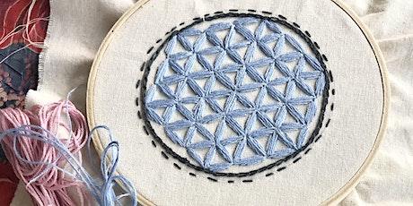 Atelier Dessin/Broderie Fleur de vie billets