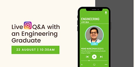 Live IG Q&A with a Heriot-Watt Engineering Graduate tickets
