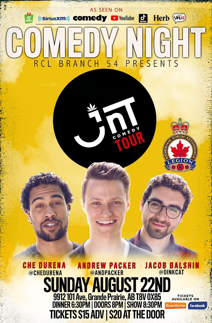 Comedy Night | JNT Comedy Tour @ RCL Branch 54 Grande Prairie image