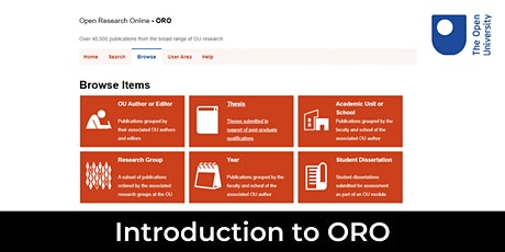 Introduction to ORO – the OU's research publications repository tickets