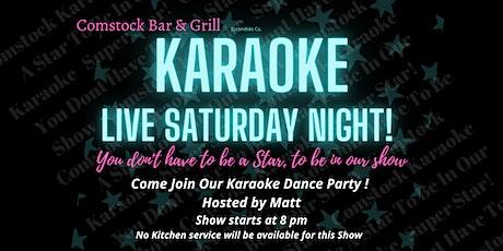 It's Live Saturday Night! Karaoke Dance Party With, Kj Matt tickets