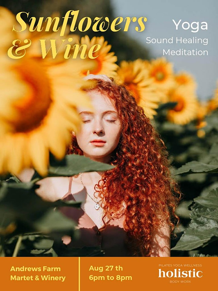 Sunflowers & Wine -Yoga /Sound Healing Meditation image