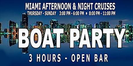 MIAMI NIGHTCLUB MIDNIGHT MEGA BOAT PARTY - 3 Hour Open Bar tickets