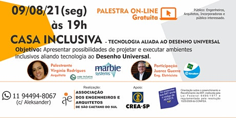 PALESTRA GRATUITA - CASA INCLUSIVA bilhetes
