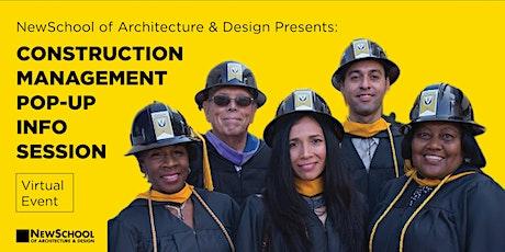 NewSchool of Architecture & Design Construction Management Pop-Up tickets