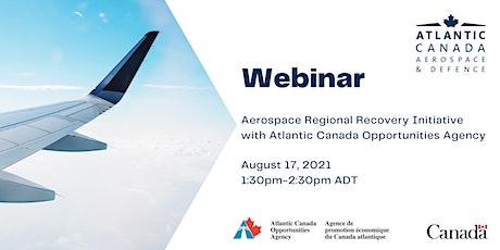 ACADA Webinar: Aerospace Regional Recovery Initiative (ARRI) tickets