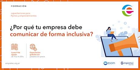 Webinar |  ¿Por qué tu empresa debe comunicar de forma inclusiva? entradas