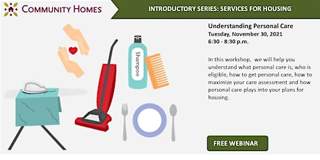 Understanding Personal Care Services 11/30/21 tickets