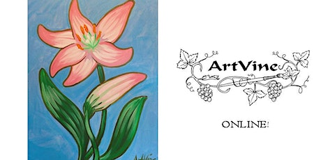 """ArtVine Online """"Paint at Home"""", 18th August 2020 tickets"""