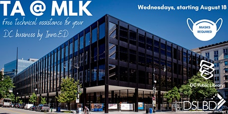 Small Business Technical Assistance, one-on-one at MLK Library tickets