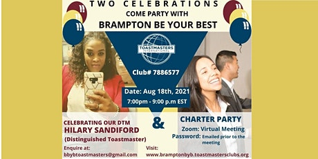 Brampton Be Your Best (BBYB) Toastmasters Club Celebrations tickets