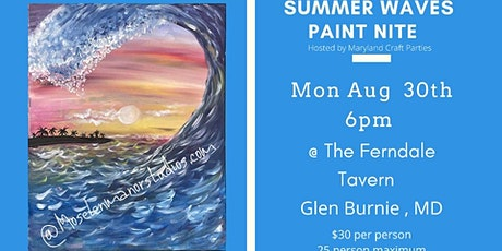 Summer Waves Paint Nite @ Ferndale Tavern hosted by Maryland Craft Parties tickets
